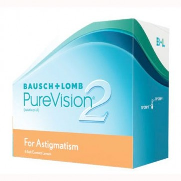 Bausch & Lomb Pure Vision 2 For Astigmatism 6 Pack contact lenses