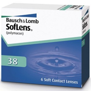 Bausch & Lomb Soflens contact lenses 38 6 Pack