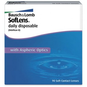 Bausch & Lomb Soflens Daily Disposable 90 Pack Contact Lenses