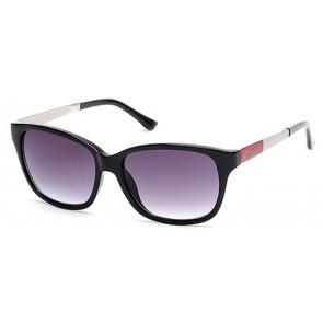 Candies Ca1009 Sunglasses-01B-Shiny black-Gradient smoke