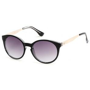 Candies Ca1010 Sunglasses-03B-Black-Crystal-Gradient Smoke