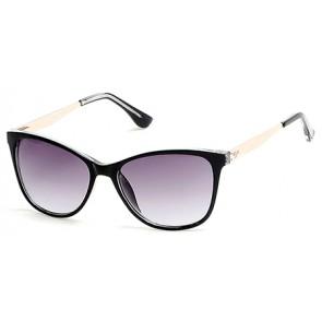Candies Ca1011 Sunglasses-03B-Black-Crystal-Gradient Smoke