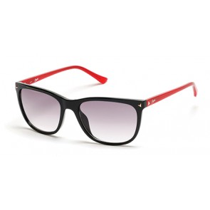 Candies Ca1017 Sunglasses-01C-Shiny Black-Smoke Mirror