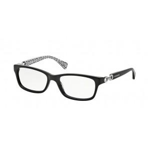 Coach 0HC6052 Fannie Eyeglasses Black/Black White Sig C