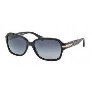 Coach 0HC8105 - L082 Amber Sunglasses Black/Beige Ocelot Sig C-5226T3