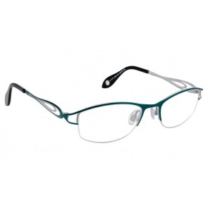 Fysh 3533 Eyeglasses-Teal Grey