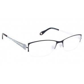 Fysh 3535 Eyeglasses-Black White