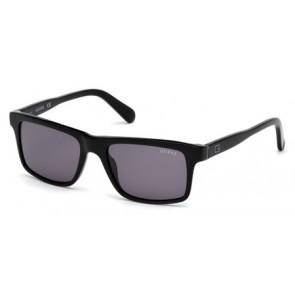 Guess Gu6886 Sunglasses-01A-Shiny Black-Smoke
