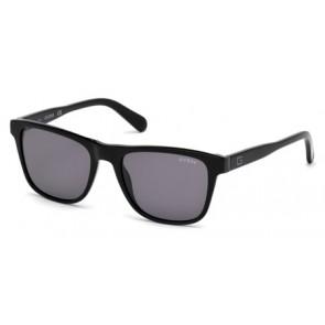 Guess Gu6887 Sunglasses-01A-Shiny Black-Smoke