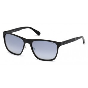 Guess Gu6891 Sunglasses-02C-Matte Black-Smoke Mirror