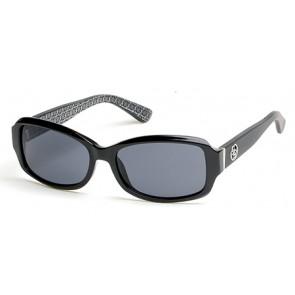 Guess Gu7410 Sunglasses-01A-Shiny Black-Smoke