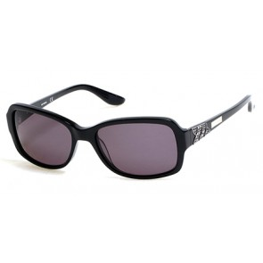 Harley Davidson HD0300X Sunglasses 01A - Shiny Black / Smoke