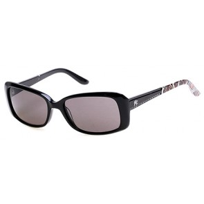 Harley Davidson HD0302X Sunglasses 01A - Shiny Black / Smoke