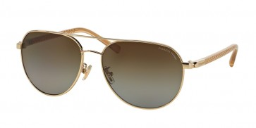 Coach 0HC7053 - L137 Sunglasses Light Gold/ Crystal Lt Brown-9227T5