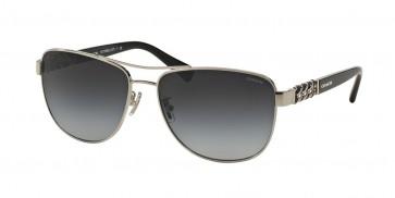 Coach 0HC7056Q - L127 Sunglasses Silver/Black
