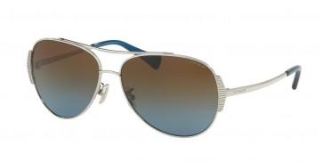 Coach 0HC7067 - L1590 Sunglasses Silver/Blue-90781F