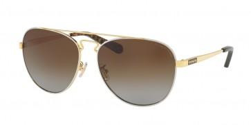 Coach 0HC7069 - L1614 Sunglasses Gold Silver/Dk Tort Gold Sig C-9295T5