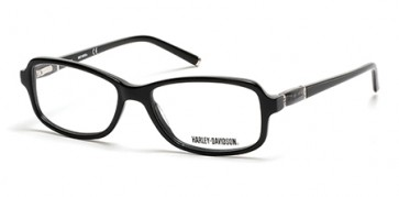 Harley Davidson HD0537 Eyeglasses-001-Shiny Black