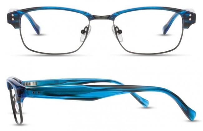 69bb85fa27a Scott Harris Sh-Vin-30 Eyeglasses-Cobalt Demi