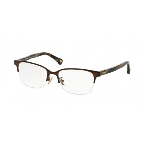 Coach 0HC5047 - Evie Eyeglasses Satin Brown/Dark Brown Horn-9163