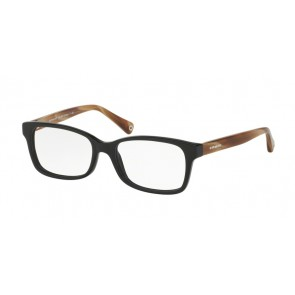 Coach 0HC6047 - Libby Eyeglasses Black/Light Brown Horn-5193