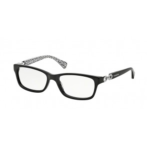 Coach 0HC6052 Fannie Eyeglasses Black/Black White Sig C