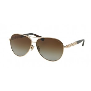 Coach 0HC7048 - L107 Sunglasses Light Gold/Dark Tortoise-9209T5