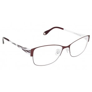 Fysh 3499 Eyeglasses-Burgundy-White