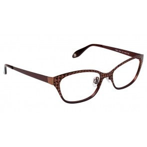 Fysh 3518 Eyeglasses-Brown Check