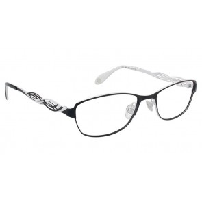 Fysh 3527 Eyeglasses-Black White