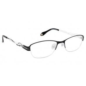 Fysh 3528 Eyeglasses-Black White