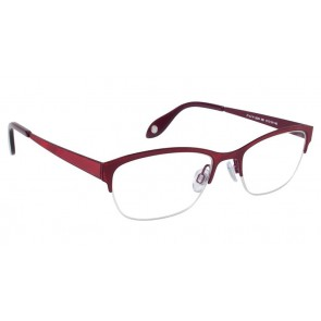 Fysh 3529 Eyeglasses-Metallic Red