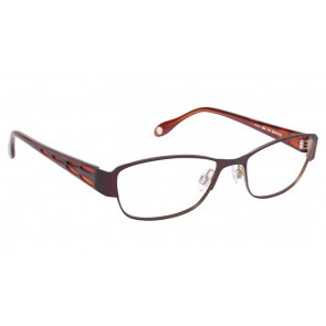 Fysh 3534 Eyeglasses-Brown Champagne