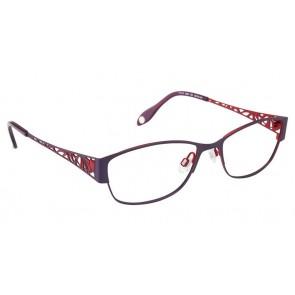 Fysh 3540 Eyeglasses-Purple Red