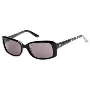 Harley Davidson HD0302X Sunglasses 01A - Shiny Black / Smoke