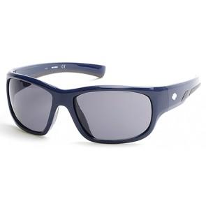 Harley Davidson HD0902X Sunglasses 01A - Shiny Black / Smoke
