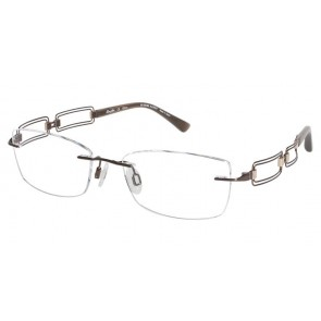Line Art Xl2020 Eyeglasses-Brown