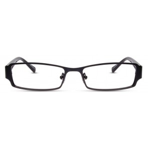Scott Harris Sh245 Eyeglasses-Black w/White-Kiwi Temples