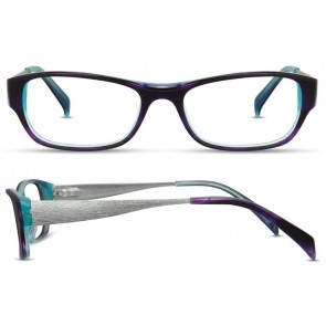 Scott Harris Sh303 Eyeglasses-Plum-Aqua-Silver