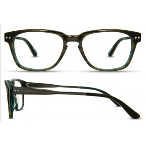 Scott Harris Sh304 Eyeglasses-Olive-Teal-Brown