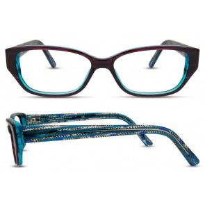 Scott Harris Sh310 Eyeglasses-Plum-Aqua