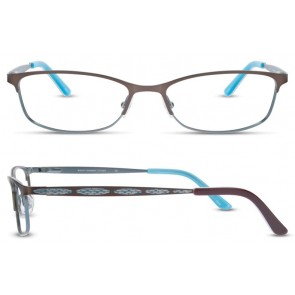 Scott Harris Sh313 Eyeglasses-Chocolate-Aqua